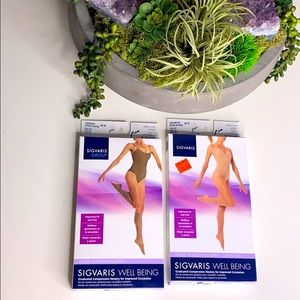 NWT SIGVARIS Natural compression hosiery knee-high